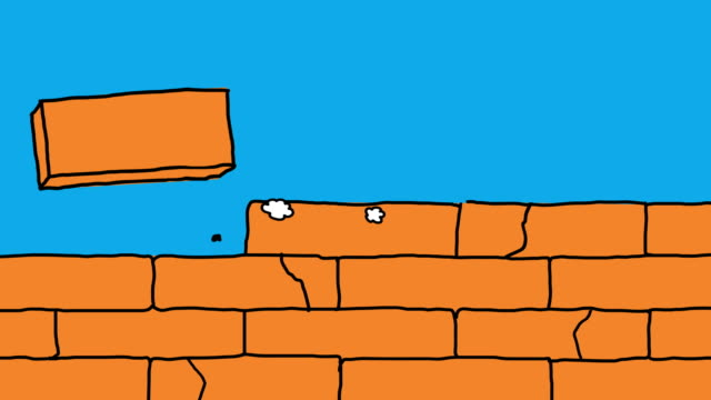 Animation Background Brick Wall Construction video