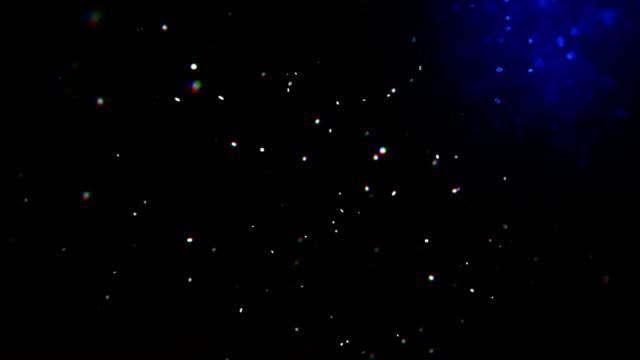 vidéos et rushes de fond animation de poussière flottant naturel rendu 3d de particules - verre optique