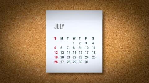 animacja kalendarz flying-alfa mapy - data filmów i materiałów b-roll