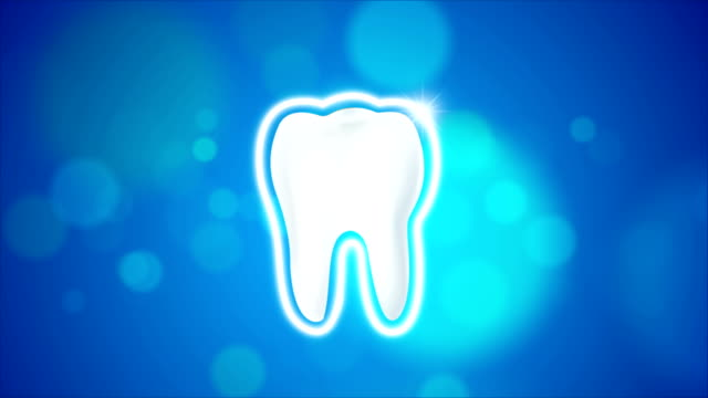 4K animation clean and dirty tooth  for Whitening and protection aura healthy oral concept video