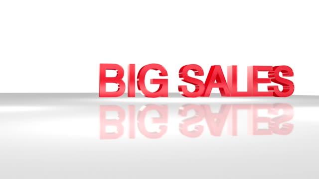 vídeos y material grabado en eventos de stock de big sale 3d animation concepto. - gran inauguración