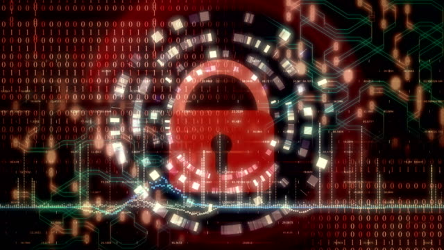 Animation depicting the concept of cyber security. Animation depicting the concept of cyber security. 4K UHD seamless looping animation. padlock stock videos & royalty-free footage
