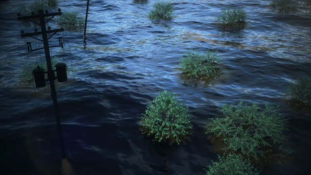 animation depicting the flooding after hurricane harvey - gulf coast states stock videos & royalty-free footage