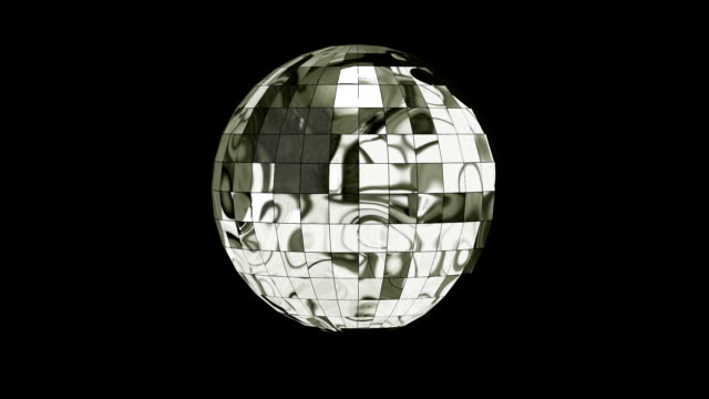 3D Animation Disco Ball with Alpha Channel video