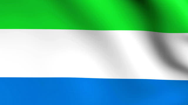 3d bandiera della sierra leone in africa - sierra leone video stock e b–roll