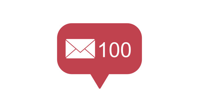 Animation footage of social media notification Mail and Message icon on transparent background (alpha channel) Animation footage of social media notification Mail and Message icon on transparent background (alpha channel) e mail stock videos & royalty-free footage