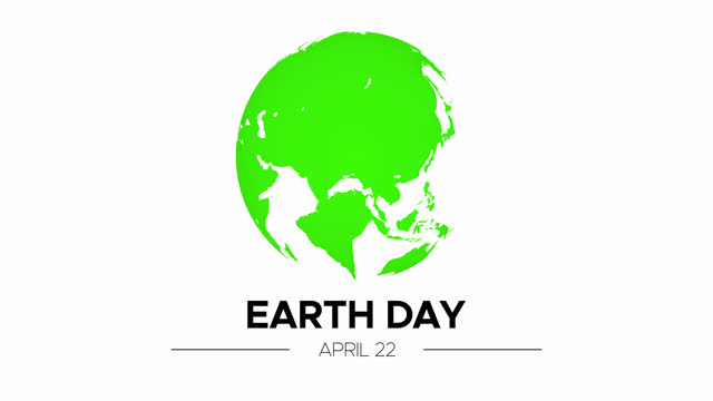 Animation for Earth Day 22 April with Green 3D Rotating Planet and Appearing Text Animation for Earth Day 22 April with Green 3D Rotating Planet and Appearing Text Isolated on White Background earth day stock videos & royalty-free footage