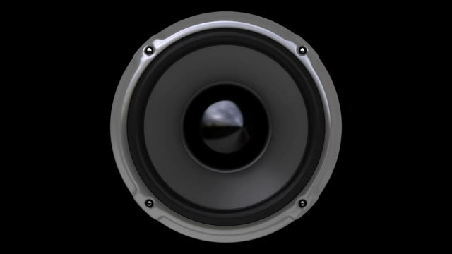 animacja gray głośników (hd, pętla/cykl, alfa - głośnik filmów i materiałów b-roll