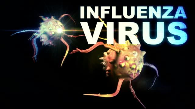 animation - Illustration of Influenza Virus cells video