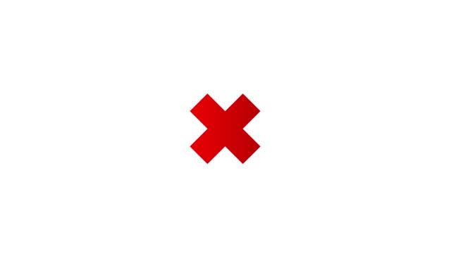 animation in bewegungsgrafiken eines rotkreuzsymbols. bewegungsgrafiken. transparenter hintergrund - kreuz religiöser gegenstand stock-videos und b-roll-filmmaterial