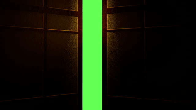 Animation -  Japanese Door Opening To Green Screen Background Animation -  Japanese Door Opening To Green Screen Background gate stock videos & royalty-free footage