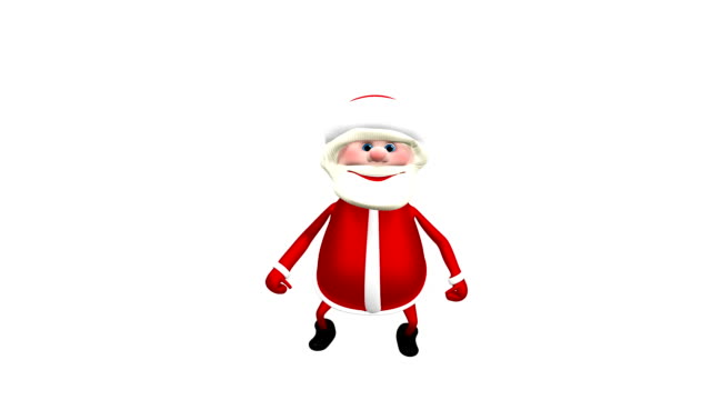 3D animation Jumping  Santa with Alpha Channel video