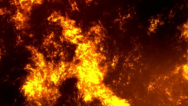 アニメーション溶岩湖火山抽象的な背景。 ビデオ