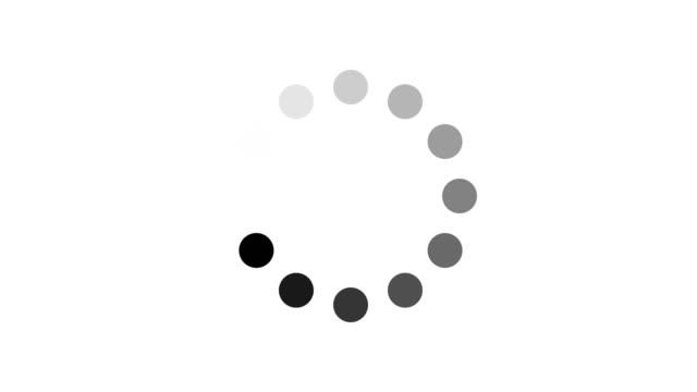 4K Animation - loading black circle icon on white background. Circle on center place for your logo and text. Motion graphic and animation background.