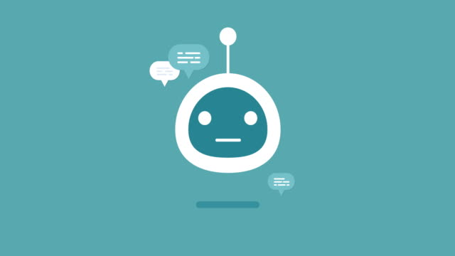 Animation-Modern-Flat-Chat-Bot-With Speech-Bubble-Icons-Stock