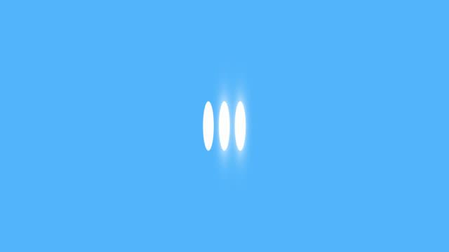 Animation modern light ellipse loading bar with blue background.