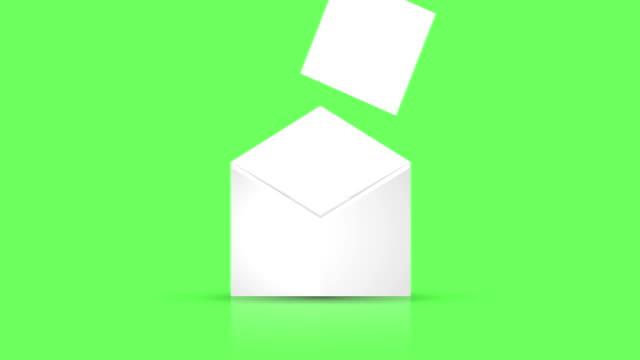 vídeos de stock e filmes b-roll de animation - modern motion envelope design background - carta documento