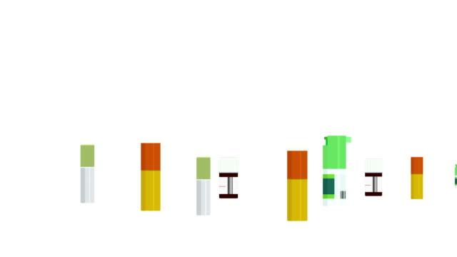 animation modern motion medicine bottles - icon set healthy video stock e b–roll