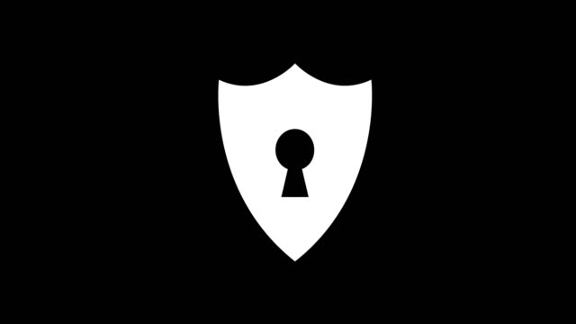 vídeos de stock e filmes b-roll de animation - modern shield glitch background - escudo