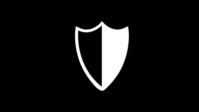 animation - modern shield glitch background animation - modern shield glitch background. 4k footage pixel motion icon shield stock videos & royalty-free footage