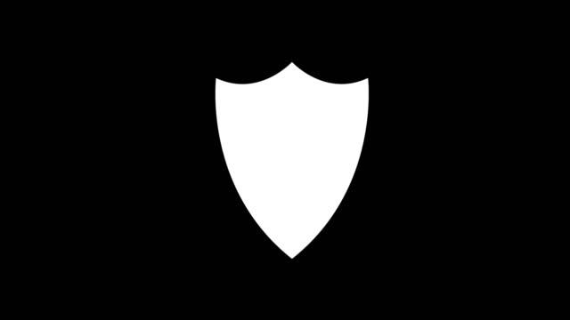 vídeos y material grabado en eventos de stock de animación - fondo de glitch escudo moderno - shield