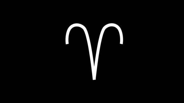 vídeos de stock e filmes b-roll de animation - modern signs of the zodiac glitch background - astrologia
