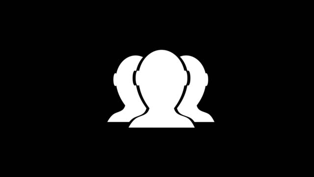 animation - modern social network glitch background