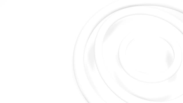 Animation of 3D circles moving against white background