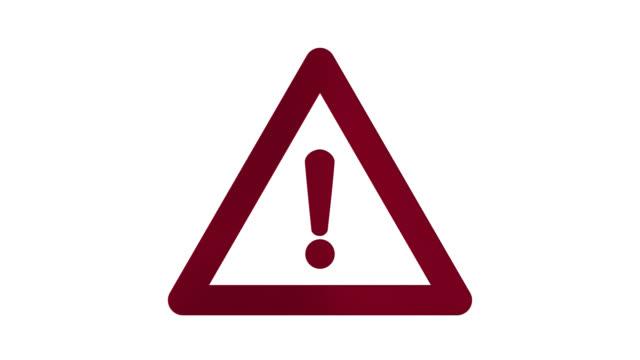 vidéos et rushes de animation d'une icône de danger 3d sur fond transparent avec canal alpha. - danger