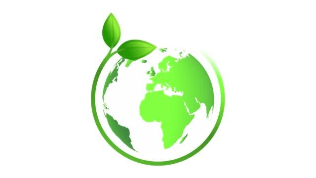 animation av en grön jord planet. 4k-video - ekosystem bildbanksvideor och videomaterial från bakom kulisserna