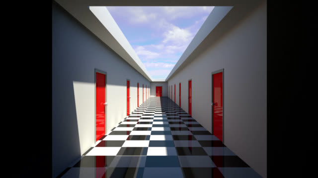 animation of a hallway video