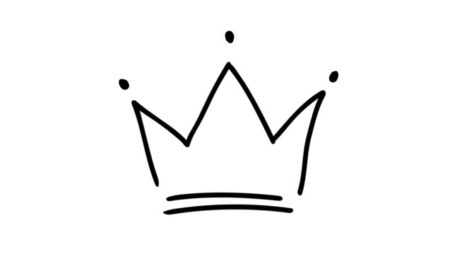 vidéos et rushes de animation d'une couronne dessinée à la main - couronne reine