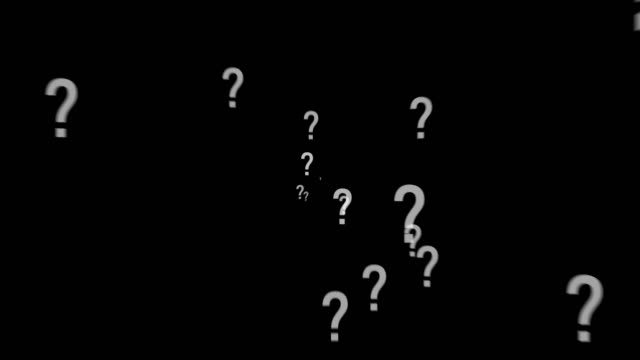 Animation of a lot of white question mark moving on black background. Animation of a lot of white question mark moving on black background with alpha channel. faq stock videos & royalty-free footage