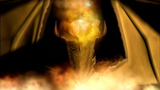 animation von einem magic dragon - drache stock-videos und b-roll-filmmaterial