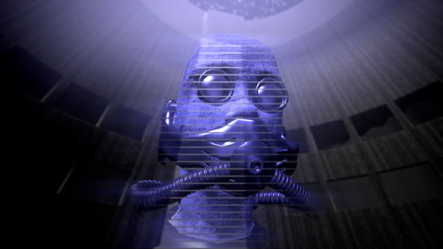Animation of a speaking holographic head video