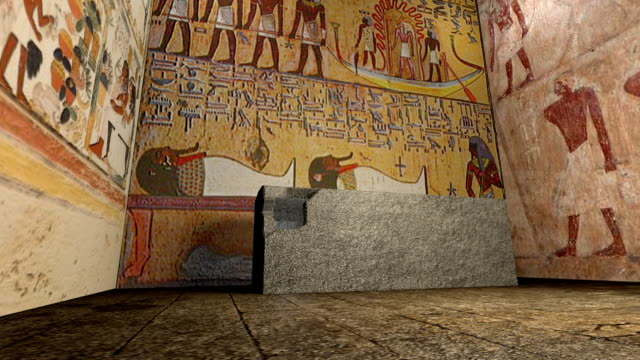 3D animation of a tomb in ancient Egypt video