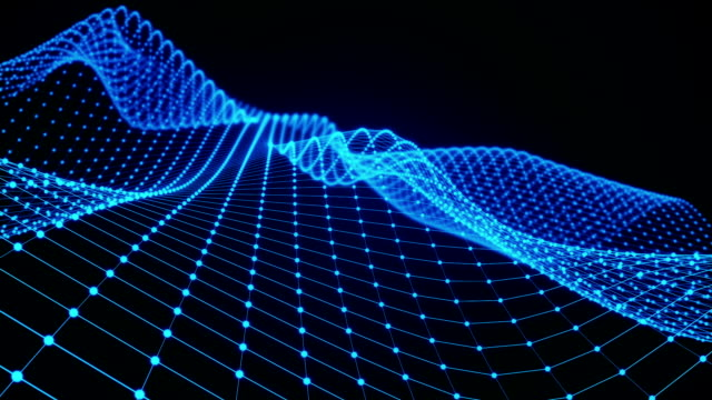 vidéos et rushes de animation d'une surface d'onde abstraites dans l'espace - entonnoir
