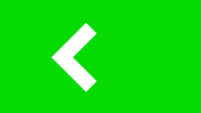 Animation of arrows sign on green screen Animation of arrows sign on green screen pointing stock videos & royalty-free footage