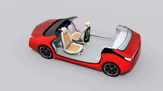 3D animation of autonomous car interior video