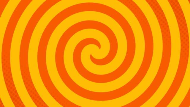 animazione della scheda con hypnotic spirals pack di 5 testo in movimento ipnotico in loop senza soluzione di continuità - spirale ricciolo video stock e b–roll