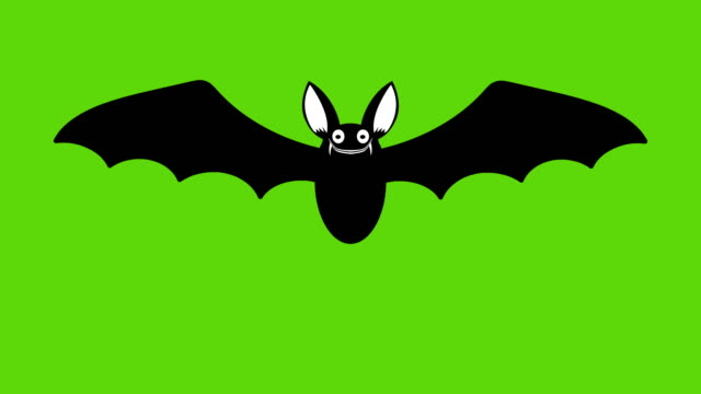 Animation of cartoon halloween bat