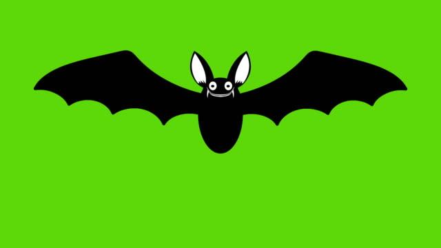 animering av tecknad halloween bat - däggdjur bildbanksvideor och videomaterial från bakom kulisserna