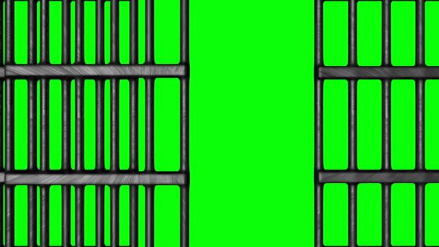 animazione di chiuso carcere bar - prigione video stock e b–roll