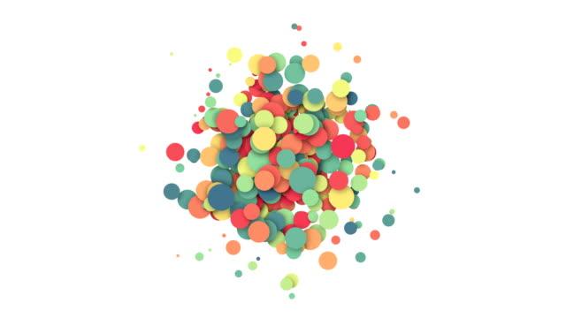 화려한 색종이 영향의 애니메이션 - 사육제 스톡 비디오 및 b-롤 화면