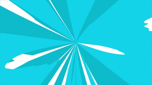 Animation of Comic speed lines background texture pattern effect in cartoon concept, loopable stock video