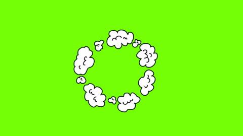 animazione dell'esplosione in stile comico. esplosione di cartoni animati - animazione video stock e b–roll