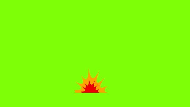 vídeos de stock, filmes e b-roll de animação de explosão de estilo cômico. explosão de desenhos animados - cúmulo
