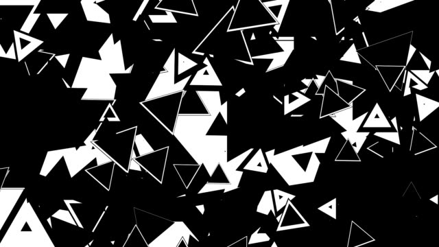 Animation of different random shape in black and white loop. Best for transition in video editing. Alpha Channel included. video