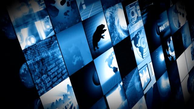 Animation of digital screens video