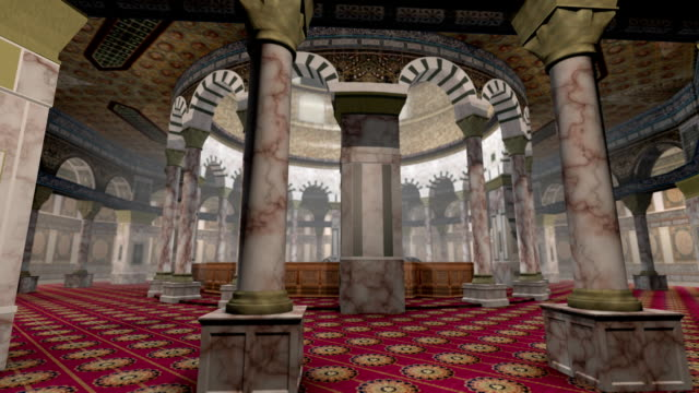 Animation of Dome of the Rock interior in Jerusalem